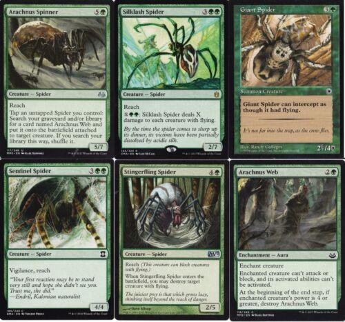 60 Cards Magic The Gathering MTG Silklash Arachnus Mono Green Spider Deck
