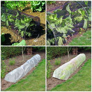 3m Plant Protector polythene/netting/fleece Garden Tunnel Cloche ...