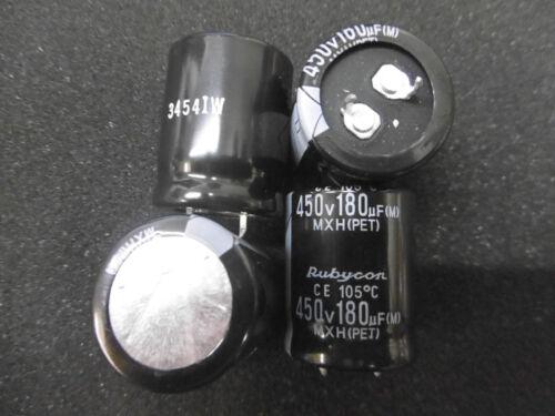 450V 105°C 25x30mm RM10mm Snap-In 180uF RUBYCON MXH 4 Stück Elko 180µF PET