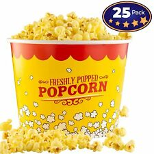25 Pack Large 85 Oz Disposable Movie Theatre Popcorn Bucket By Avant Grub