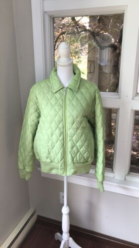 Rare Barbour Green Quilted Bomber Puffer Jacket P… - image 1