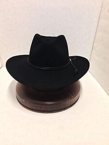 58b8091f Stetson Cowboy Hat 6X Beaver Fur BLACK Carson With Free HAT Brush+No ...