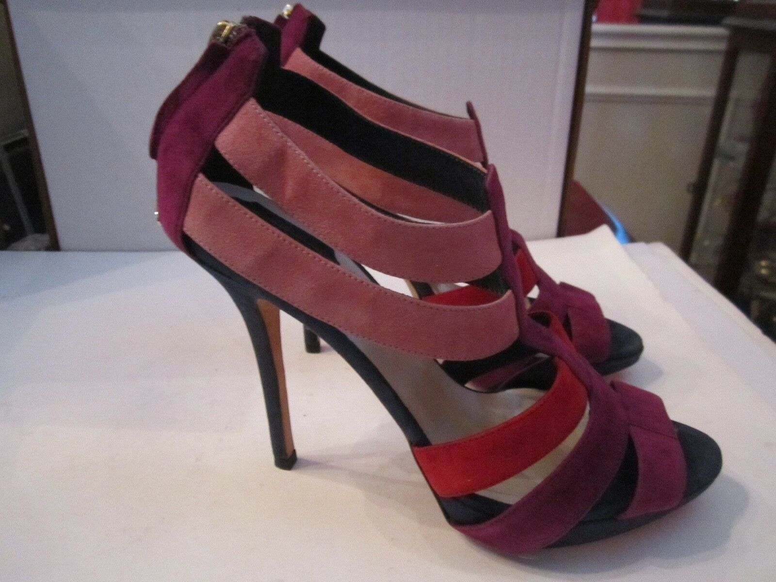 CHRISTIAN DIOR MULTI COLOR SUEDE STILETTO SHOES - SIZE 9 (39)