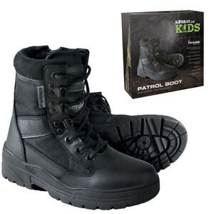 Mens Military Police Khaki Army Patrol Combat Boots Tactical Cadet Security size