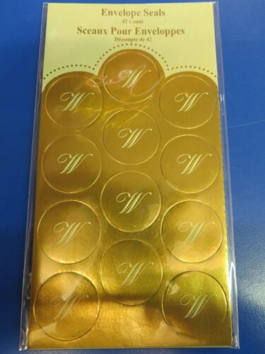 Monogram Envelope Seals Gold Initial Letter Party Favor Gift Scrapbook Stickers