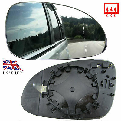 VW PASSAT B6 WING MIRROR GLASS HEATED RIGHT OFFSIDE DRIVER CLIP ON REAL GLASS