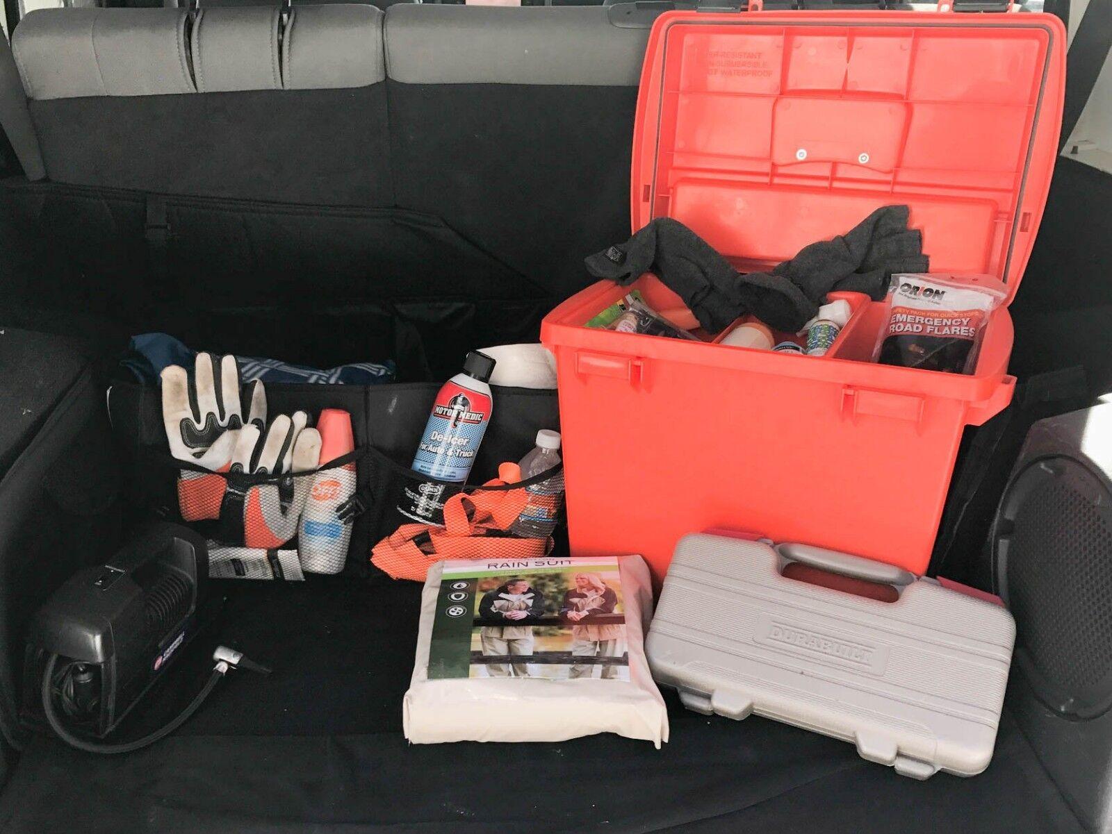 Caja de almacenamiento extra grande impermeable seco-Kit de evacuación de emergencia & - Lote de 4