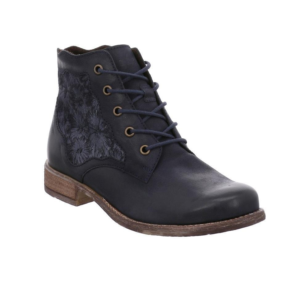 Josef Seibel Sienna 79 Navy Combi Leather Stiefel