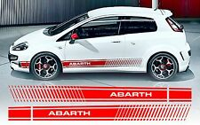 Fiat Punto Evo style Abarth side stripe decals / stickers