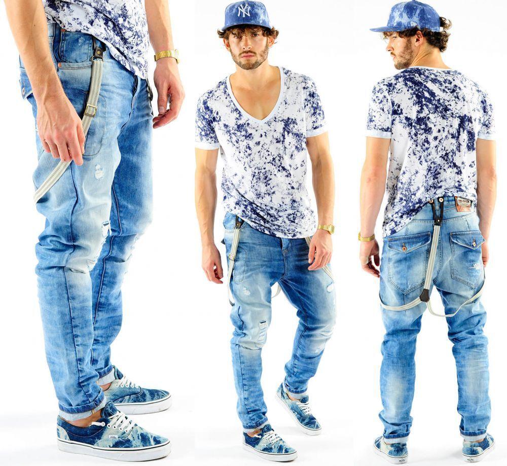 VSCT Brad Solid w. Suspenders Acid Wash Jeans     | Deutschland München  | Nicht so teuer  | Verschiedene aktuelle Designs