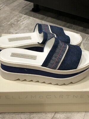 """Comfort Shoes Clothing, Shoes & Accessories Pleasant In After-Taste """"stella Mccartney""""slides/wedges/platforms;italy;denim;100%authentic"""