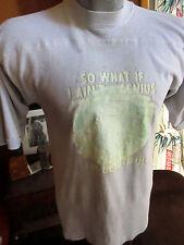 M True Vtg 70s MENS STONER GENIUS GRAPHIC IRON ON TRASHED RELIC HIPPIE T-shirt