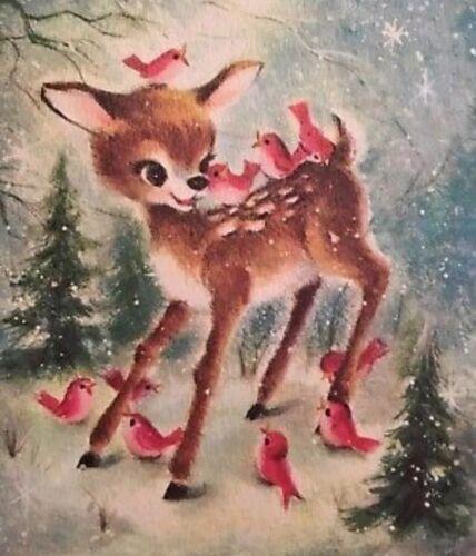 Vintage Shabby Style Cute Reindeer CHRISTMAS Gift Tags//Die cuts~8 Tags~8 Styles
