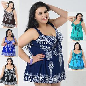 615be98ab8288 Ladies Swimwear Two Piece Swimdress Tankini AU Size 20 22 24 26 28 ...