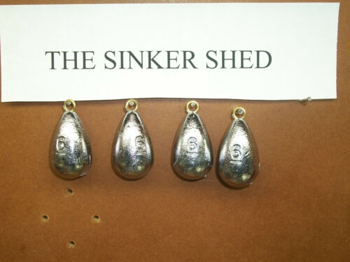 6 oz bell sinkers brass eyes FREE SHIPPING quantity of 6//12//25//50//100//250