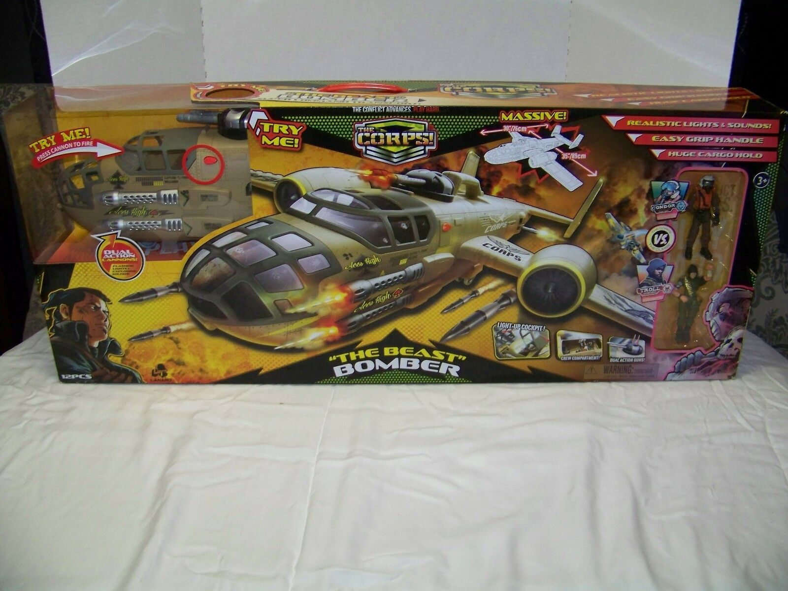 NEW LANARD THE CORPS THE BEAST BOMBER   MASSIVE  ELECTRONIC. WITH 2 FIGURES