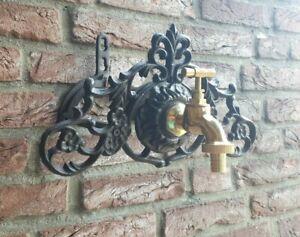 Schlauchhalter-Schlauchrolle-Antik-Gusseisen-Garten-Vintage-Neu-Wand-rustikal
