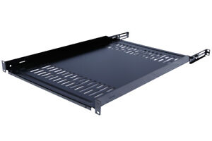 Fixed-Rack-Server-Shelf-19-034-Rack-Mount-1U-Adjustable-from-28-31-034-Rear-brackets