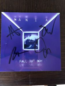 fall out boy mania autographed art card cd signed 12x12 poster signed ebay. Black Bedroom Furniture Sets. Home Design Ideas
