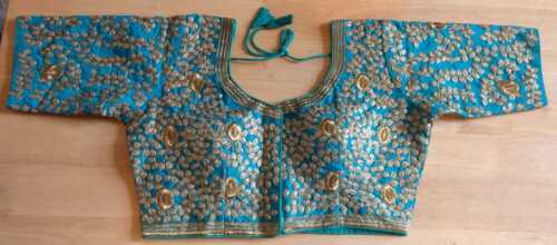"""Saree Blouse Ready Made sizes 38/"""" free sizes to 40/"""" embroidered Bollywood dress"""