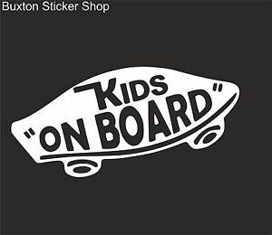 88f48a11f6d61 KIDS ON BOARD Vans Surf Car Vinyl Decal Sticker EURO JDB DUB ...