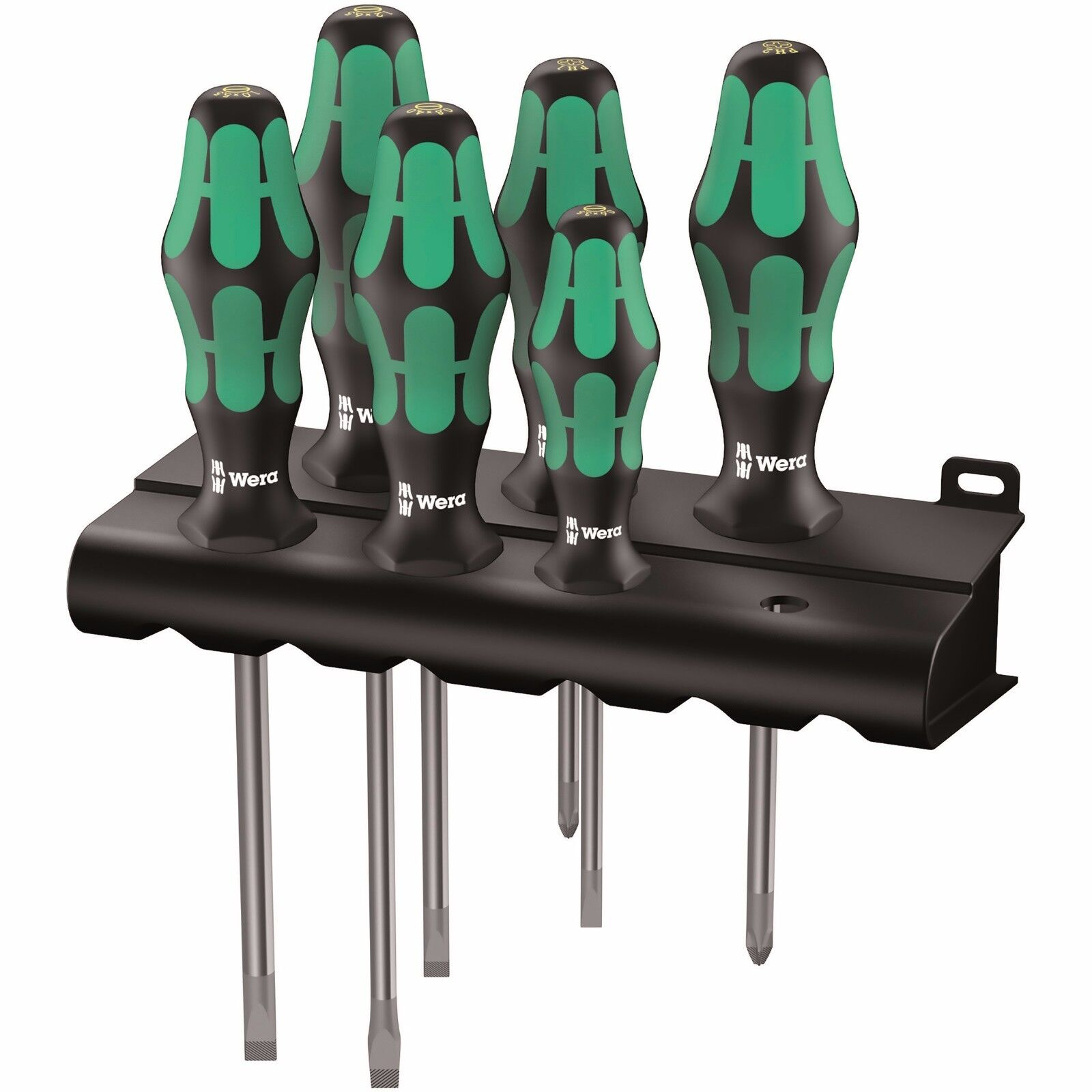 Wera 334 6 Kraftform Plus Lasertip Screwdriver Set 05105650001