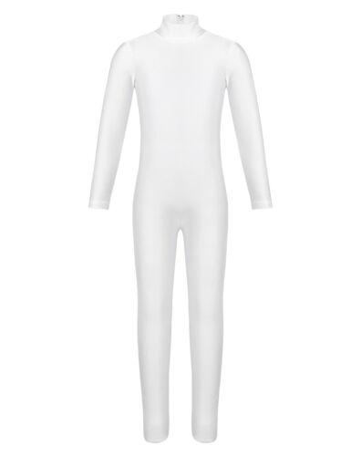 Girl Long Sleeve Ballet Dance Gymnastics Kid Catsuit Bodysuits Unitard Dancewear