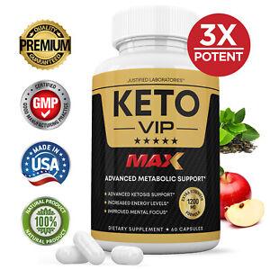 Keto VIP Max 1200MG Pills Weight Loss Diet BHB Ketogenic Supplement 1 Bottle