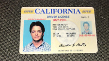 Back to the Future - Marty McFly ID - Michael J Fox - License - Prop