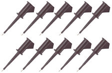 10 Pack Pomona 5360 0 Smd Grabber Test Clip With 0025 Inches Square Pin Black