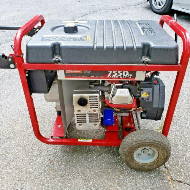 Generac 7550exl Generator Electric Pull Start For Sale Online Ebay