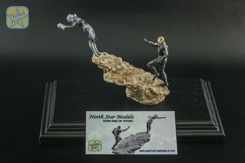 54 mm Tali Zorah &  Shepard MassEffect painted Diorama-end of story  promotions promotionnelles