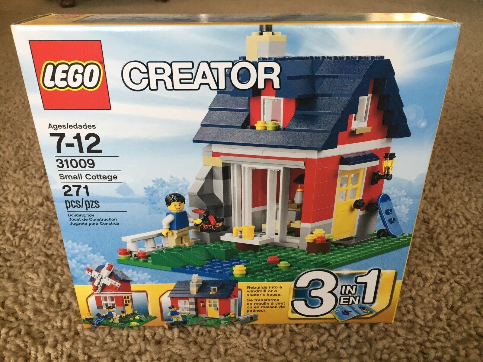 LEGO 31009 Creator City Small Cottage House House House Windmill Minifigure 3 in 1 NEW Set 69535a