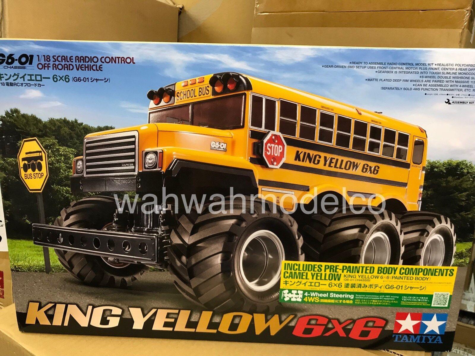 Tamiya 47376 PRE-PAINTED re gituttio School autoautobus RC Kit   basta comprarlo