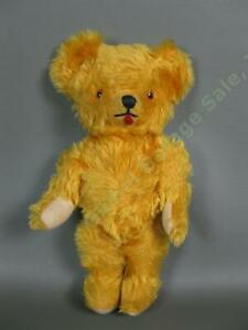 Vintage-Teddigund-Gund-Creation-Yellow-Teddy-Bear-Moveable-Jointed-Head-Arms-Leg