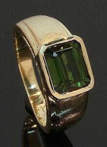 9-Carat-Yellow-Gold-Single-Oblong-Tourmaline-Ring-Size-N-80-19-528