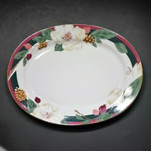 NEW-Tienshan-Magnolia-14-Inch-Oval-Serving-Platter