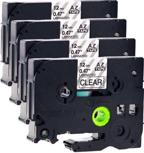 Schriftbänder kompatibel für Brother TZe-131 12mm schwarz auf transparent Ptouch