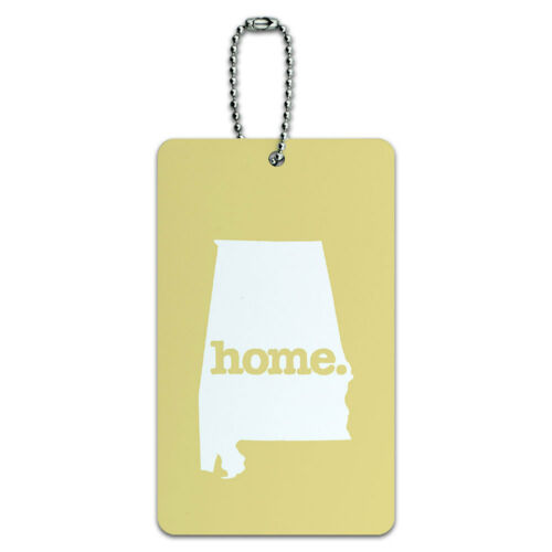 Alabama AL Home State ID Tag Luggage Card Suitcase Carry-On