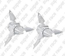 Stock Chrome KURYAKYN Spun Blade Spinning Axle Caps For Harley Dyna Softail