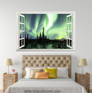 3D Green Light Forest 218 Open Windows WallPaper Murals Wall Print AJ Jenny