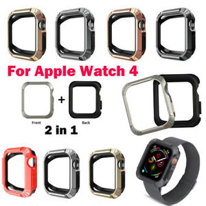 check out d0c1a 8f772 Details about TPU iWatch Case Frame Protective Cover For Apple Watch Series  4 40mm 44mm