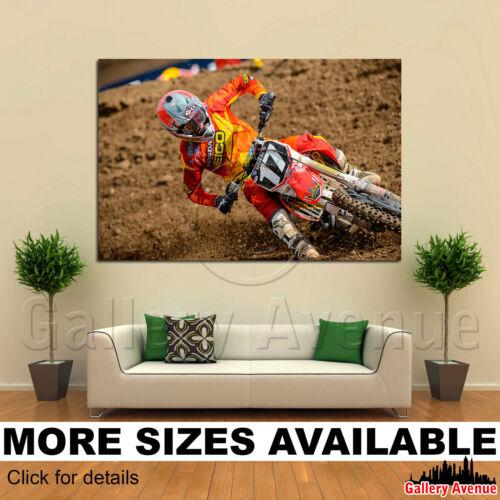 Wall Art Canvas Picture Print Hoda Dirtbike Moto Motocross Racing 3.2