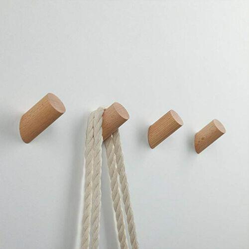 5Set Massivholz Hakenleiste Kleiderhaken Garderobenhaken Wandhaken DE