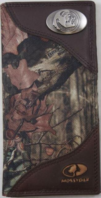 ZEP-PRO Ole Miss Rebels Roper Leather /& Nylon MOSSY OAK Camo Wallet ONLY NO BOX