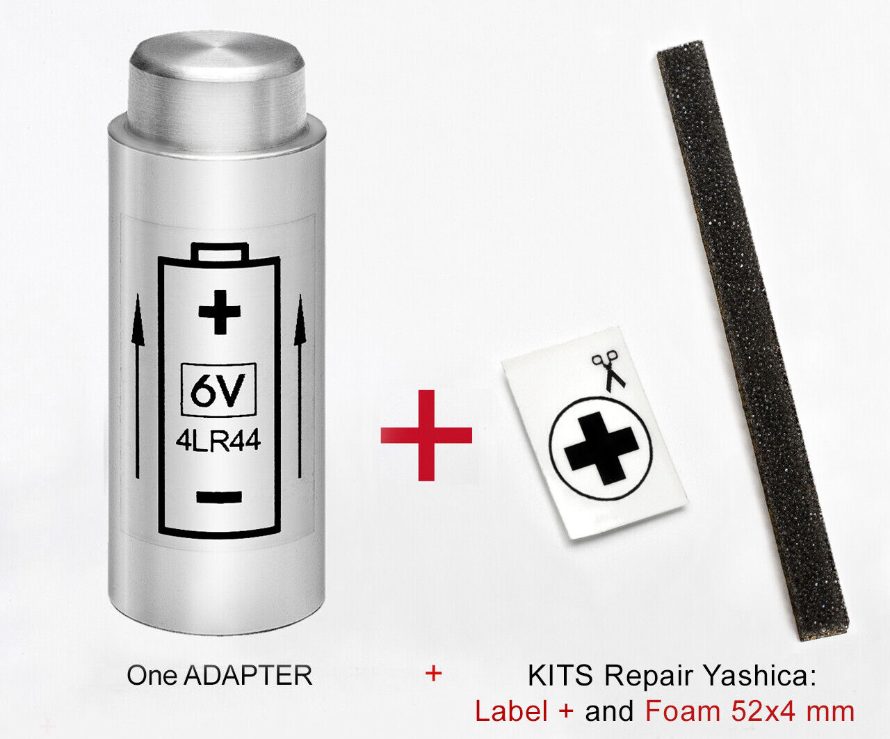 ADAPTOR Battery + KIT for YASHICA Electro 35 G, GT, GL, GS,...