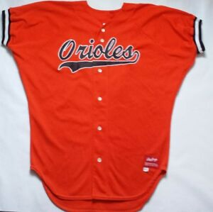 reputable site cef1b 2a7a7 Details about Vintage Orioles Rawlings Baseball Jersey Size 46