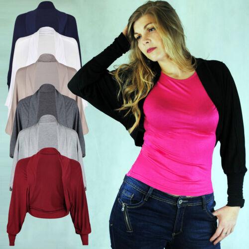 Ladies Long manche Loose Fit Batwing Bolero Shrug Crop Short Cardigan Cover Up