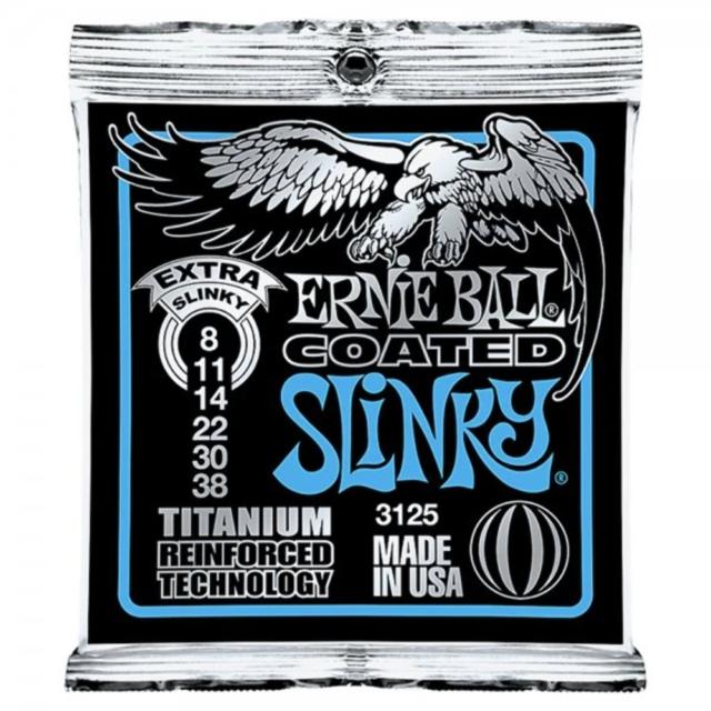 Ernie Ball Coated Extra Slinky Electric Guitar Strings - 8-38