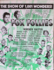 "SHIRLEY TEMPLE  ""Fox Follies"" -  WILL ROGERS  ""David Harem""  Trade Ad  1934"